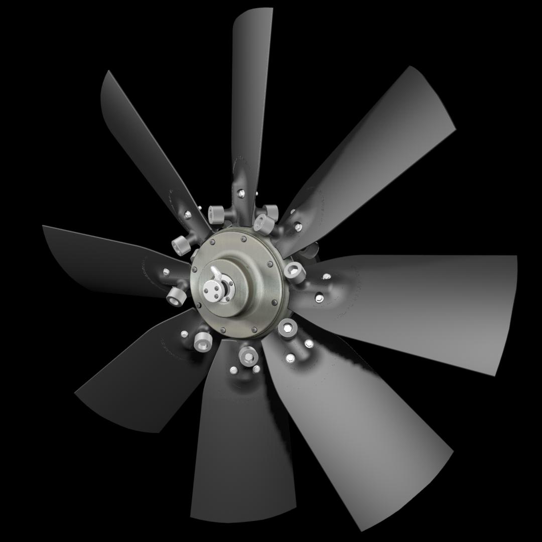 Flexxaire omkeerbare ventilator